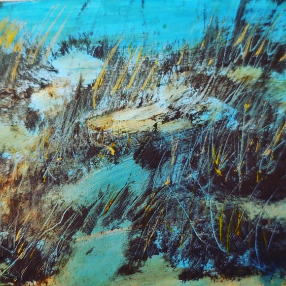 8x10 original painting embellished print